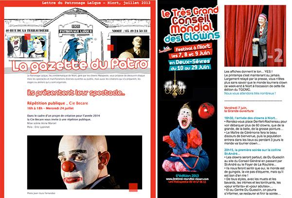gransard-cie-newsletter-Patronage-Laique-et-grand-Conseil-des-Clowns-Niort